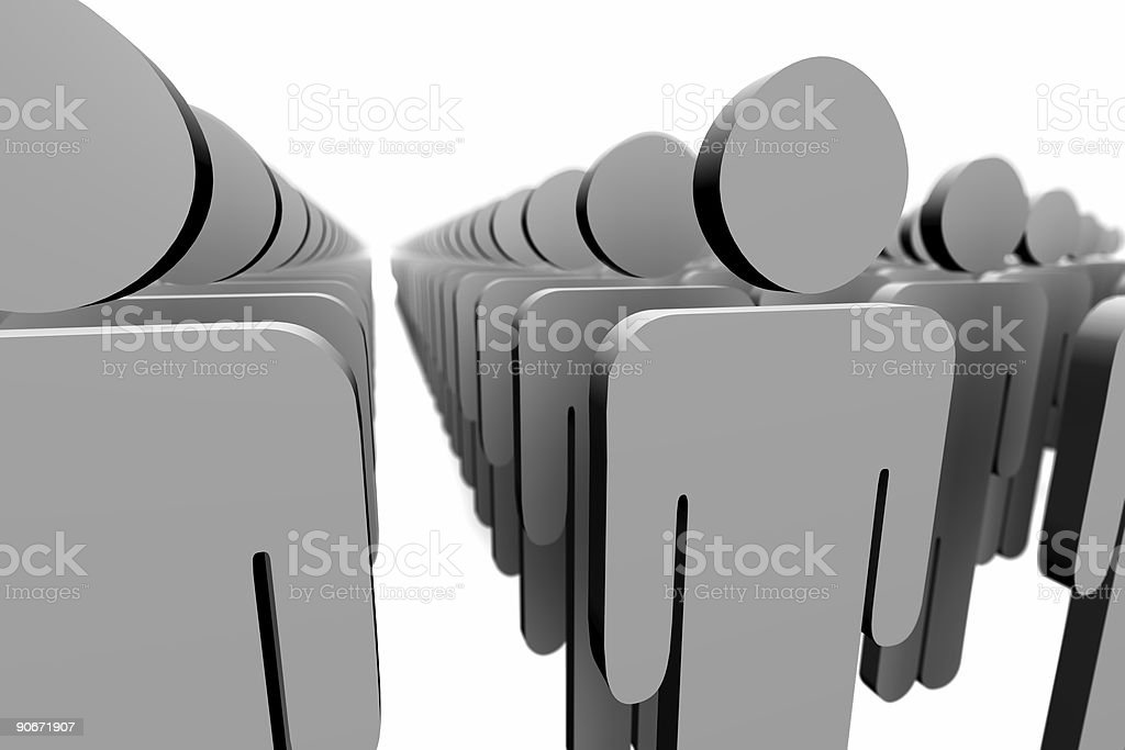 large team royalty-free stock photo