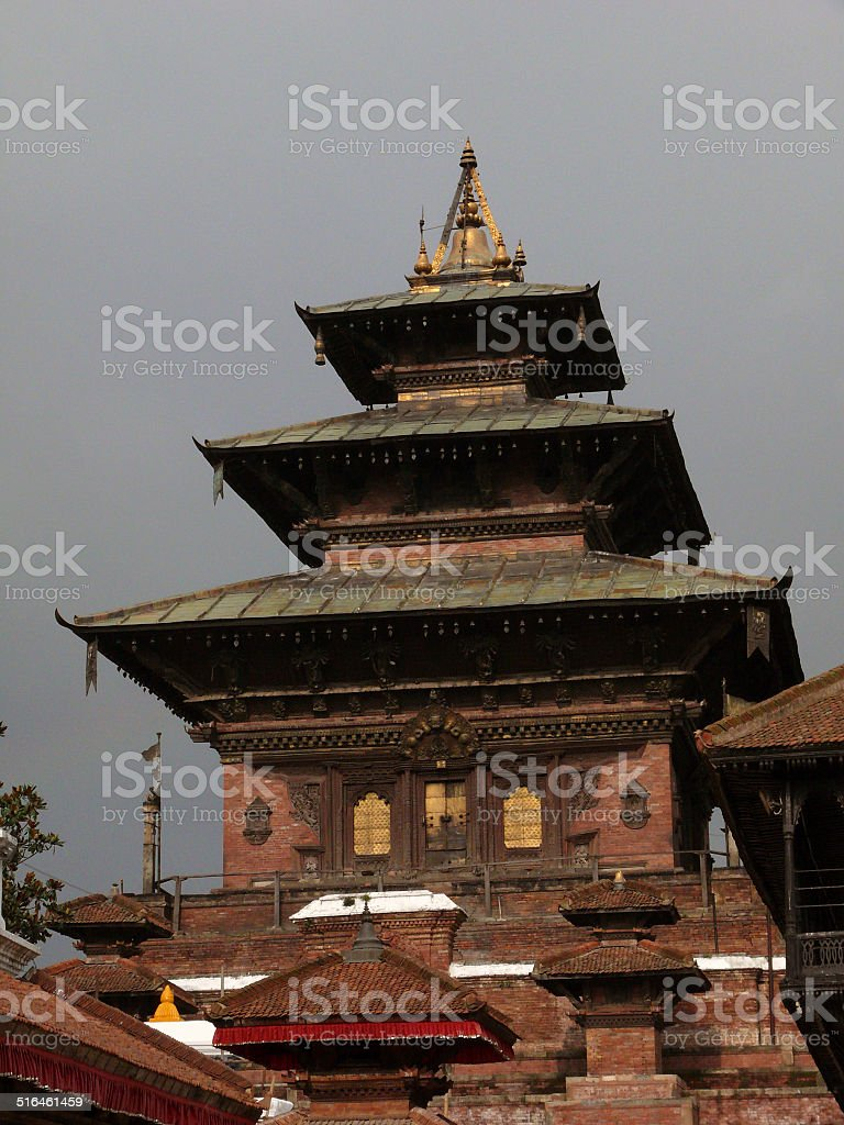 Large Temple at the Heart of Kathmandu Durbar Square stock photo