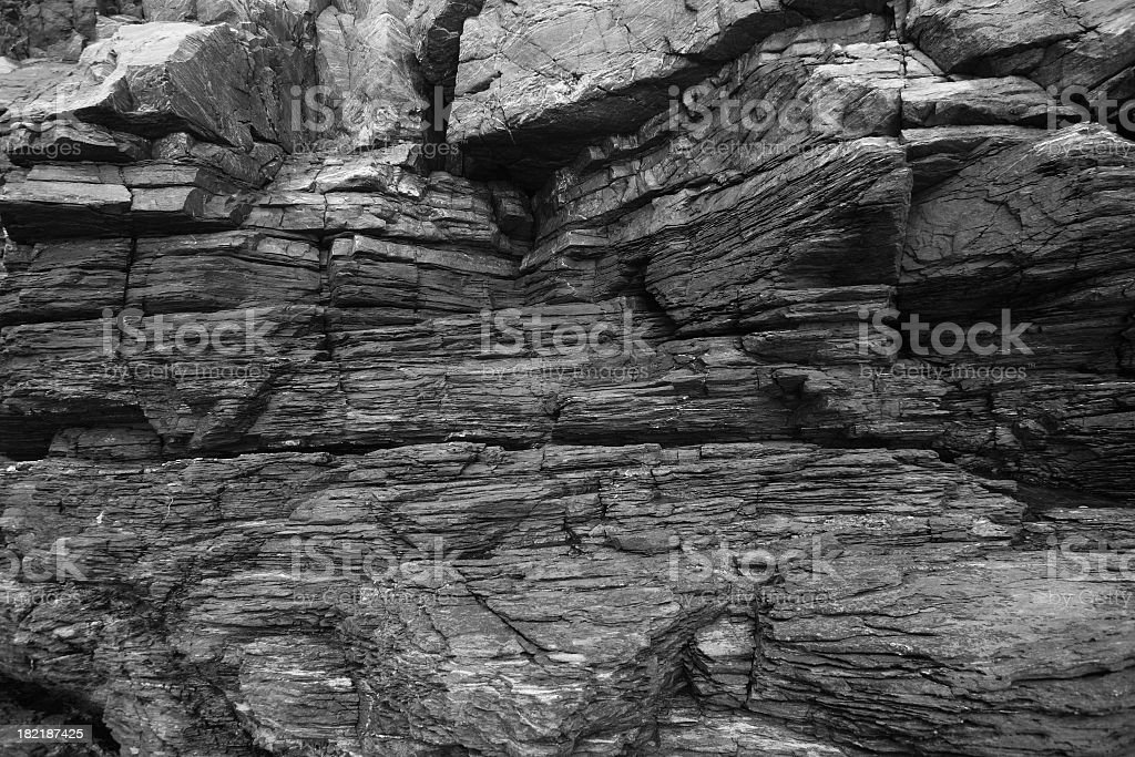 Large textured rock wall that would be suitable for climbers stock photo