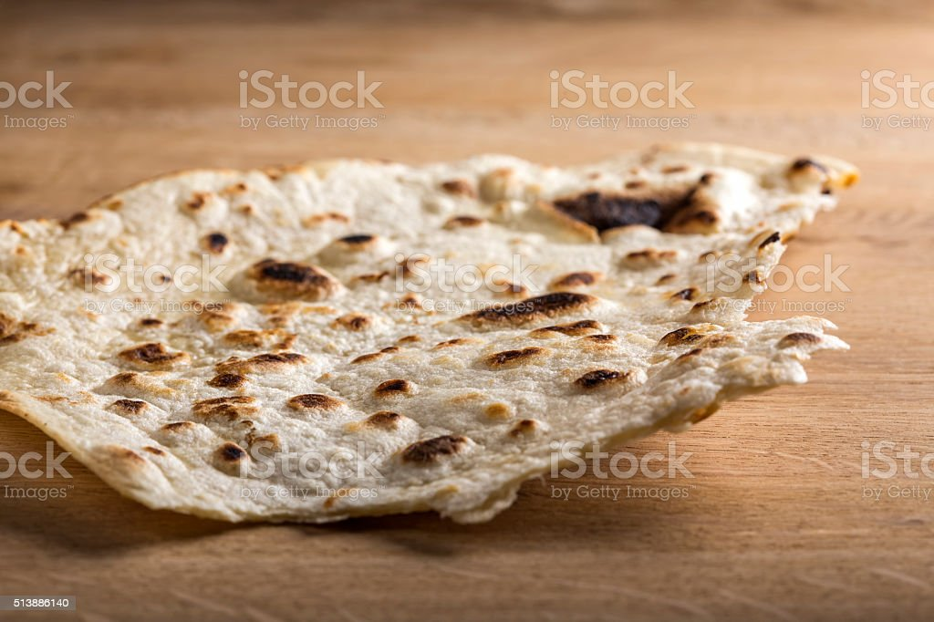 Large thin pita bread stock photo