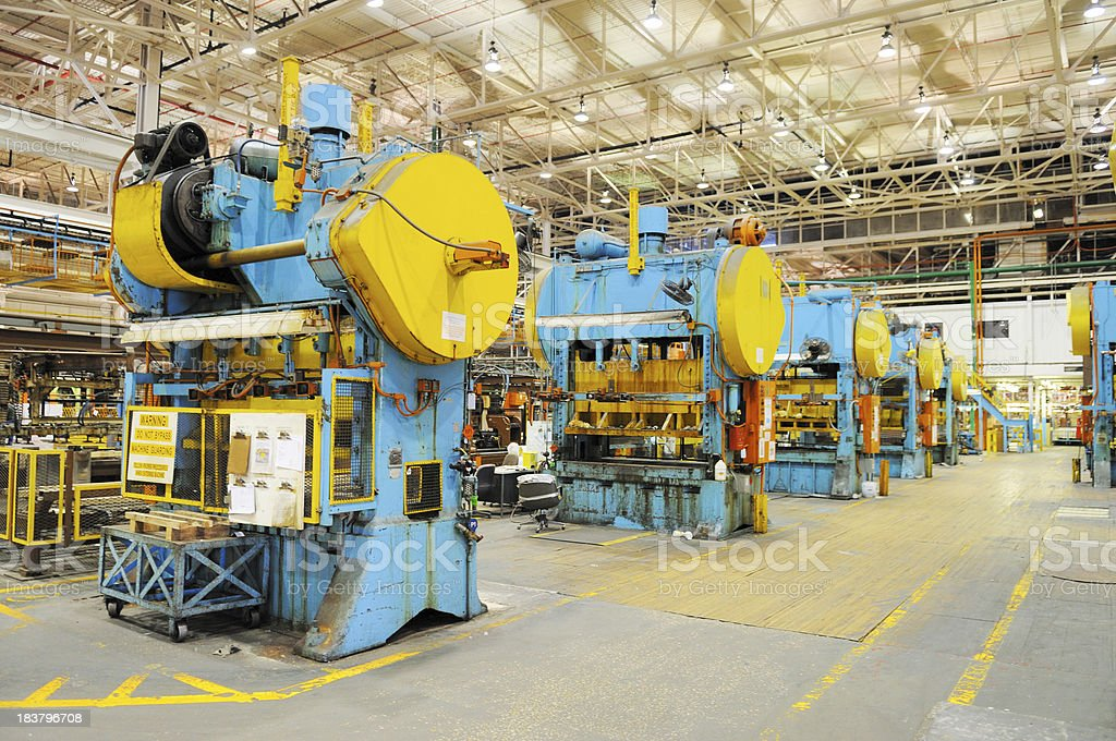 Large Tonnage Metal Press Shop Industry in American Manufacturing Factory royalty-free stock photo
