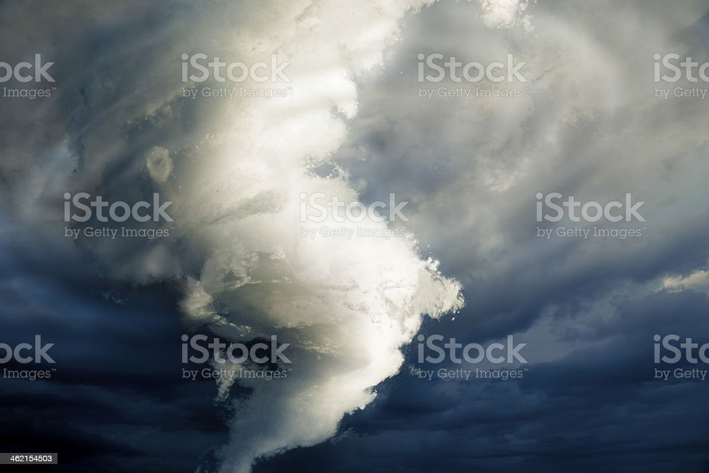 large tornado forming about to destroy stock photo