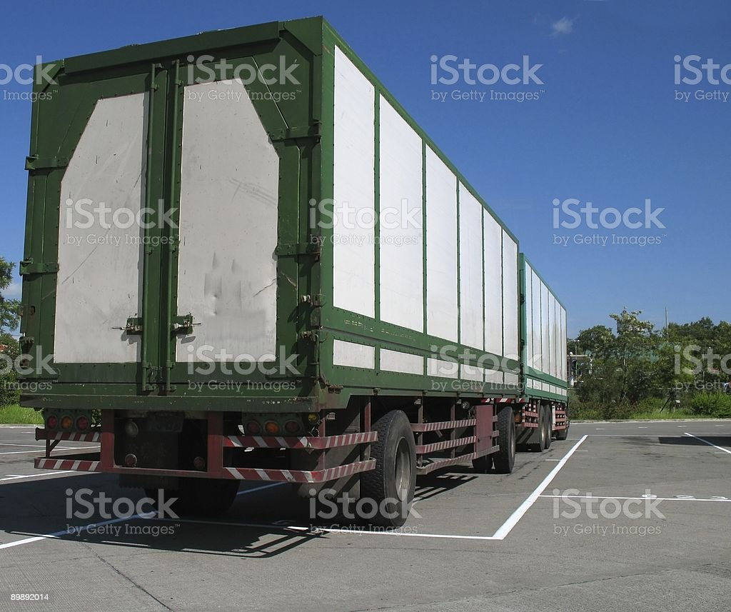 Large Trailer Truck royalty-free stock photo