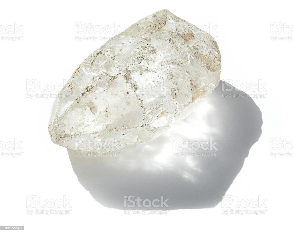 Large Transparent Quartz Crystal, Rough royalty-free stock photo