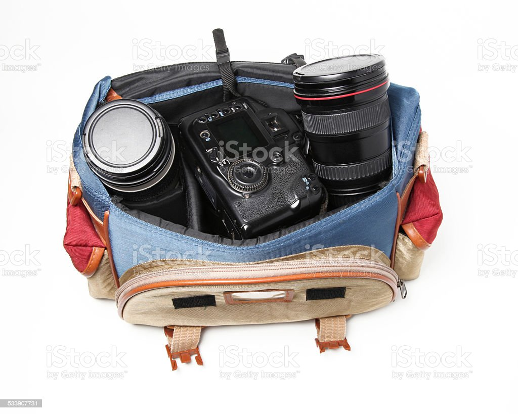 Large Travel Camera Bag stock photo