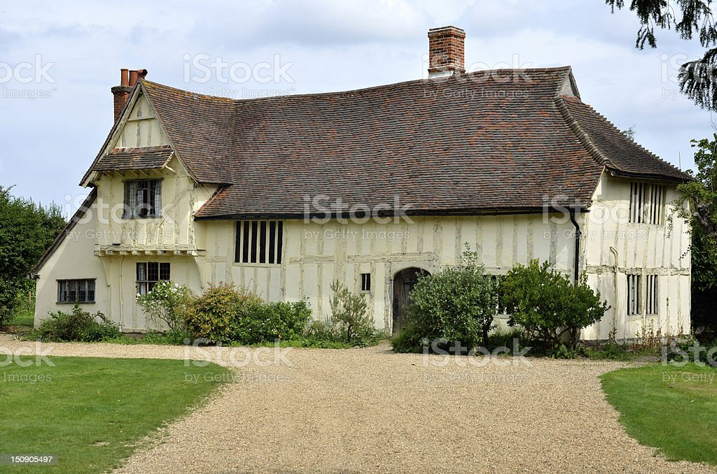 Large Tudor farmhouse stock photo