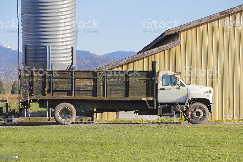 Large Utility Farm Truck stock photo