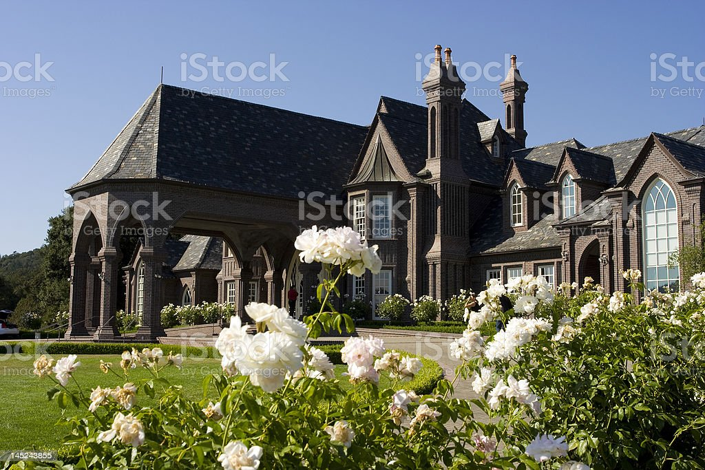 Large Victorian mansion vinery  in Nappa Valley stock photo
