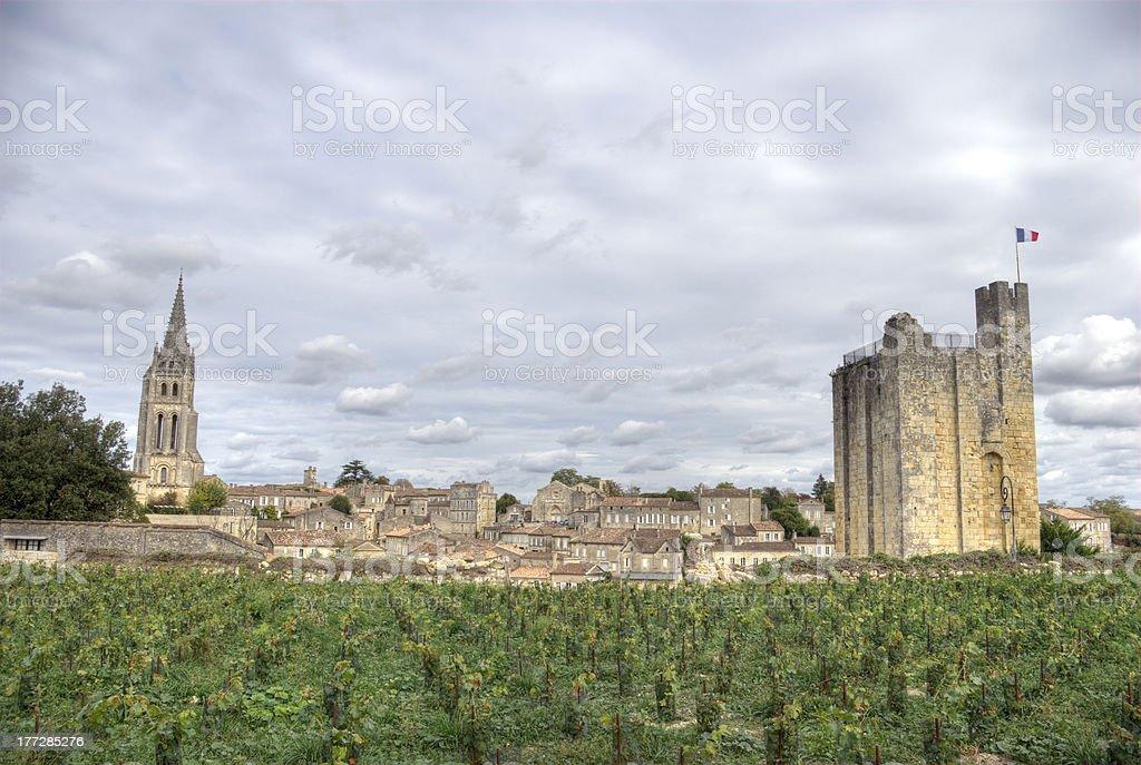 Large view on Saint Emilion stock photo