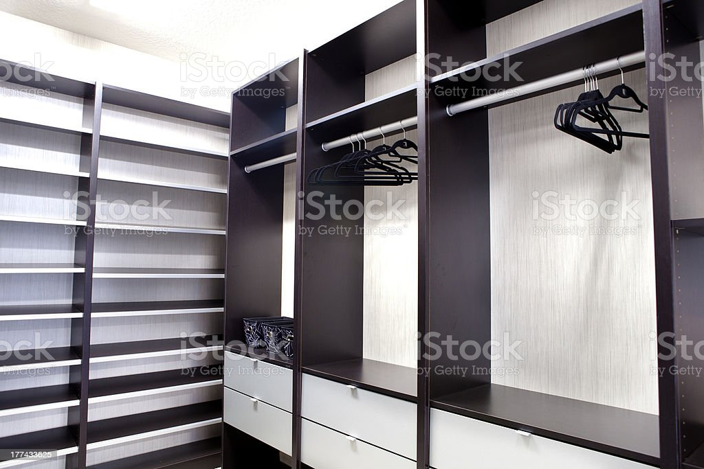 Large Walk-in Closet stock photo