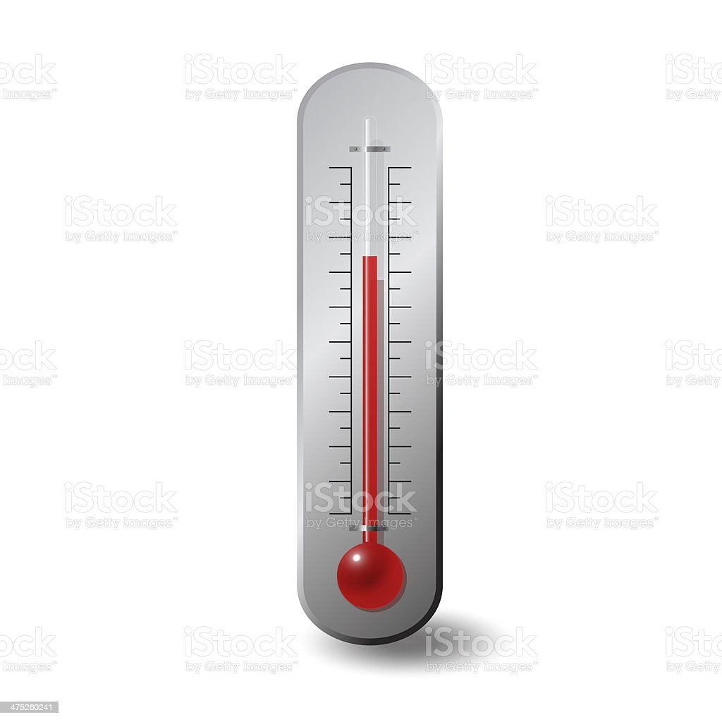 large wall thermometer stock photo