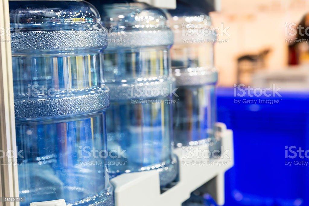 Large water bottles stock photo