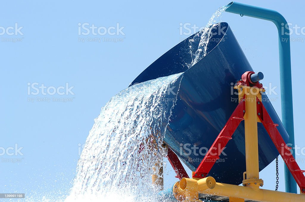 Large water bucket stock photo