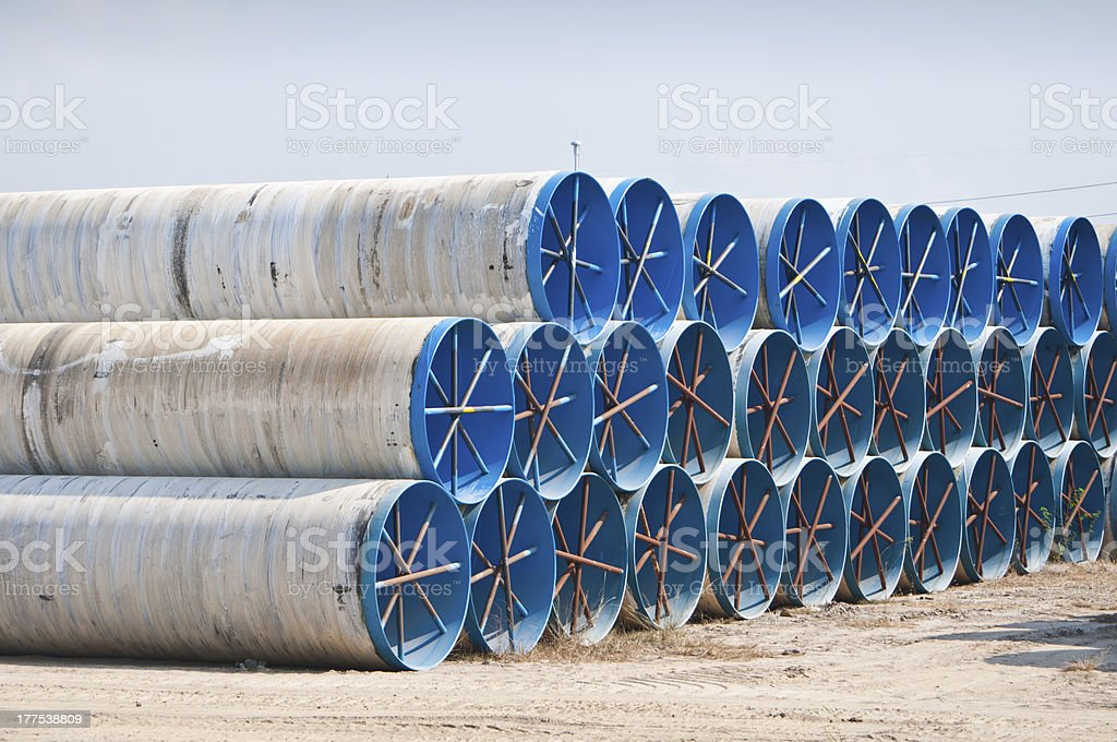 Large water pipes royalty-free stock photo