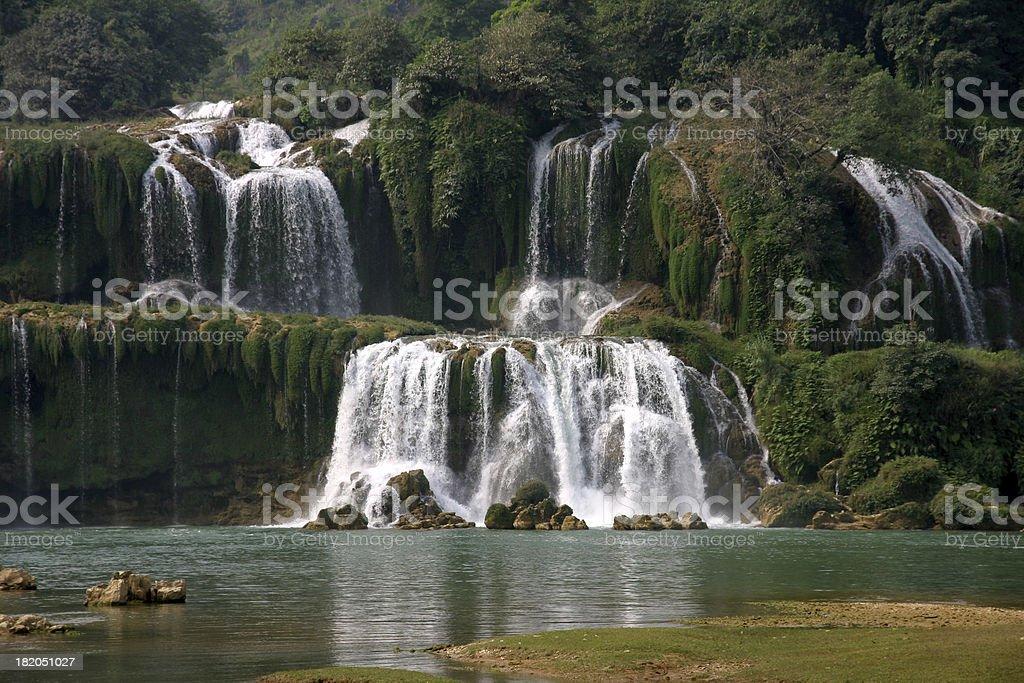 Large waterfall royalty-free stock photo