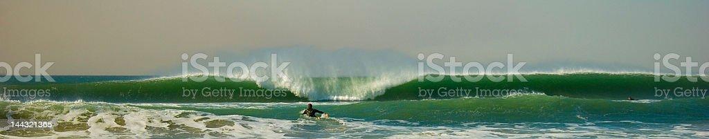 Large Wave Crashing stock photo