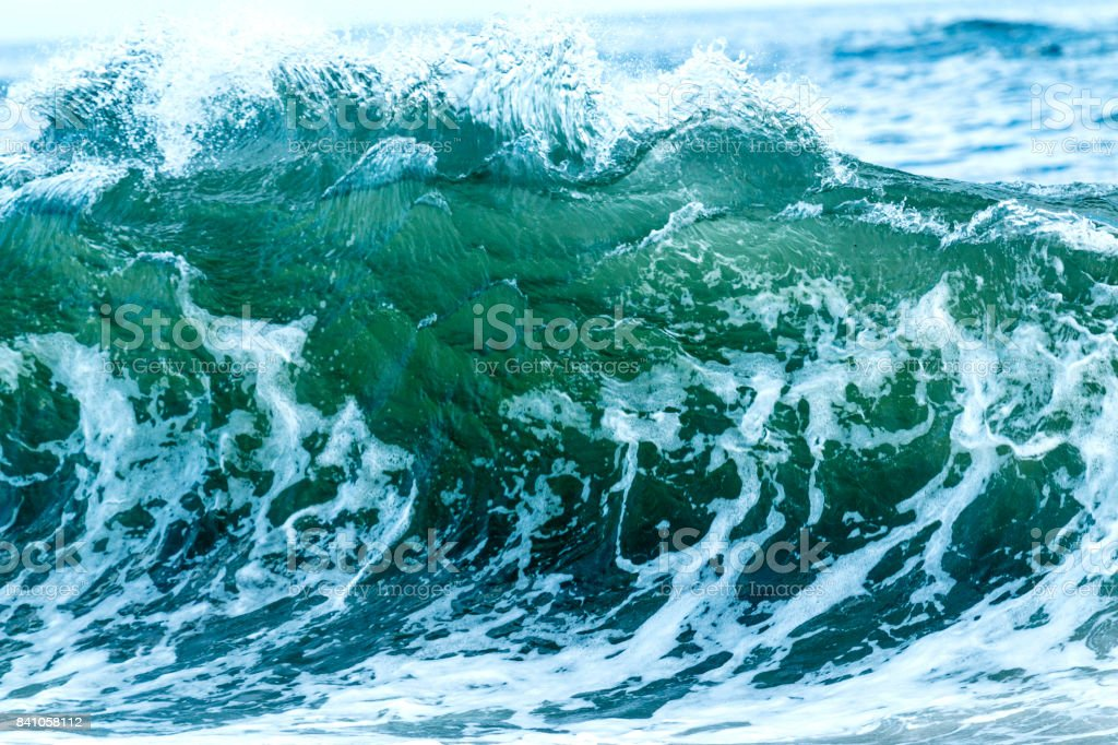 Large wave in the Atlantic Ocean stock photo