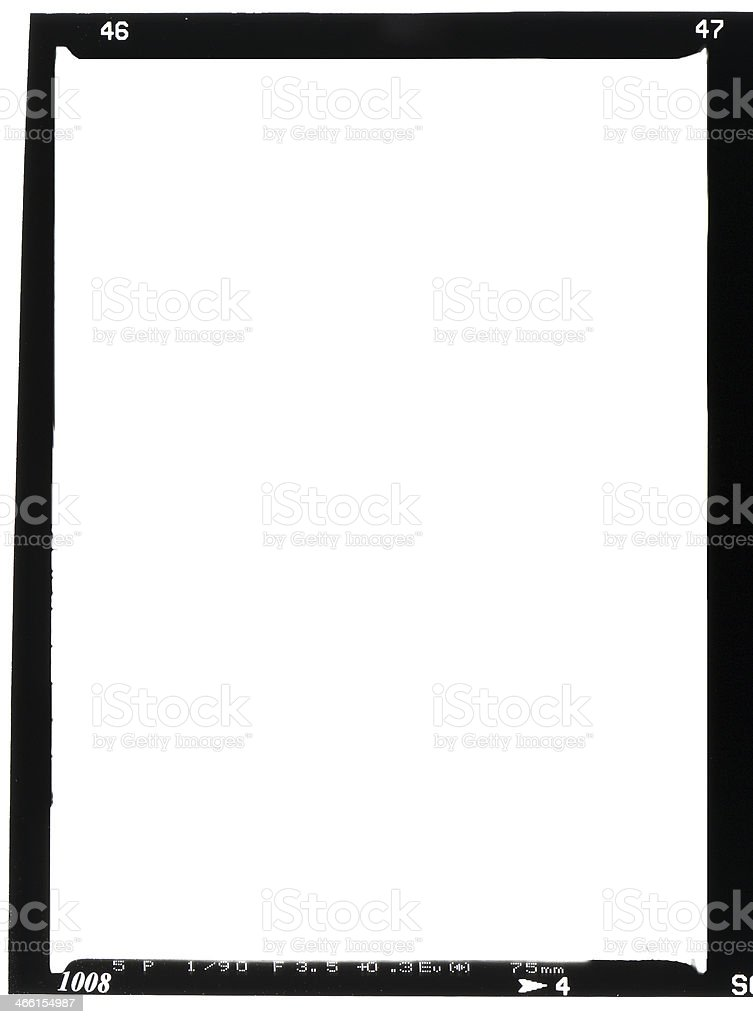 Large white and black real frame stock photo