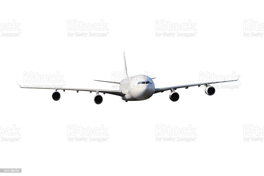 Large white plane stock photo