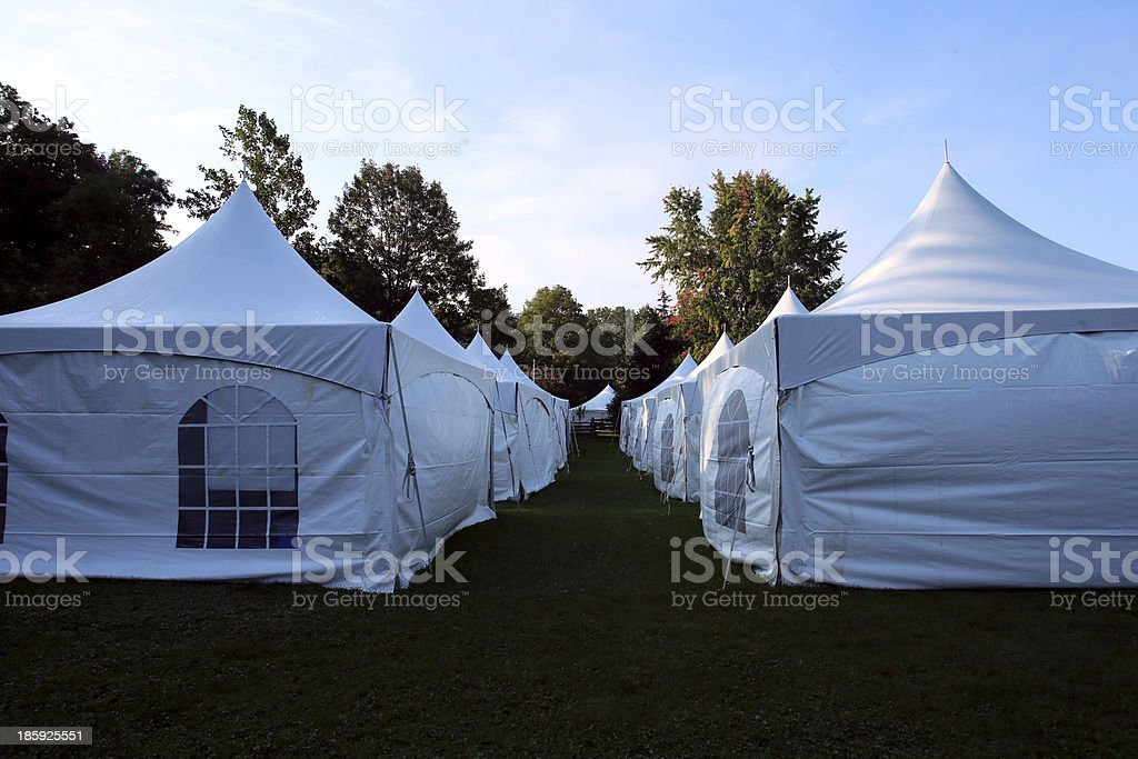 Large white tents royalty-free stock photo