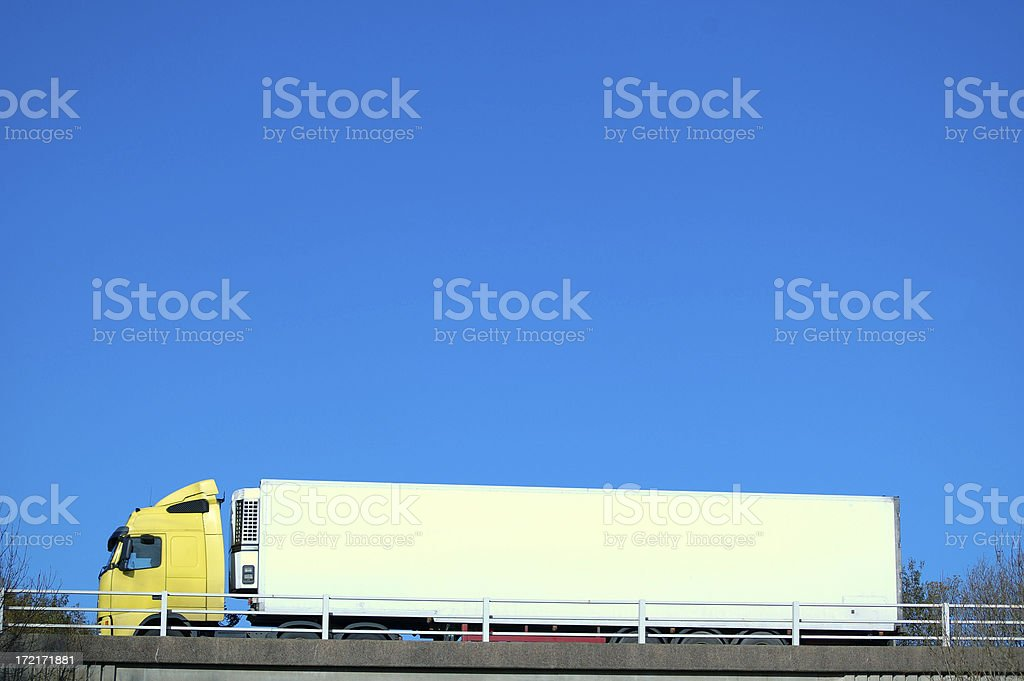 large white truck royalty-free stock photo