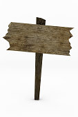 Large Worn Wooden Sign
