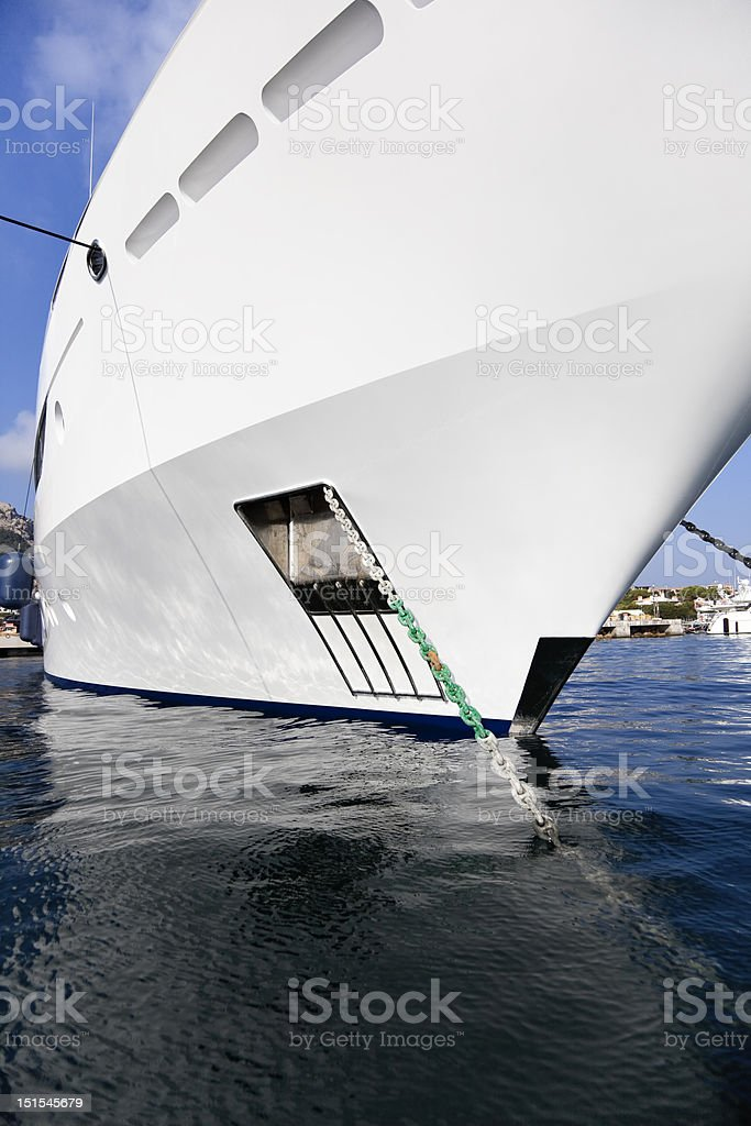 Large Yacht. royalty-free stock photo