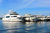 Large yachts in the Port of Naples Marina in Florida