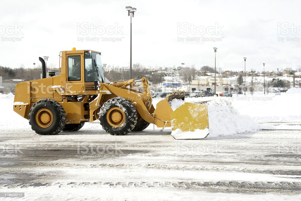 Large Yellow Snow Plow stock photo