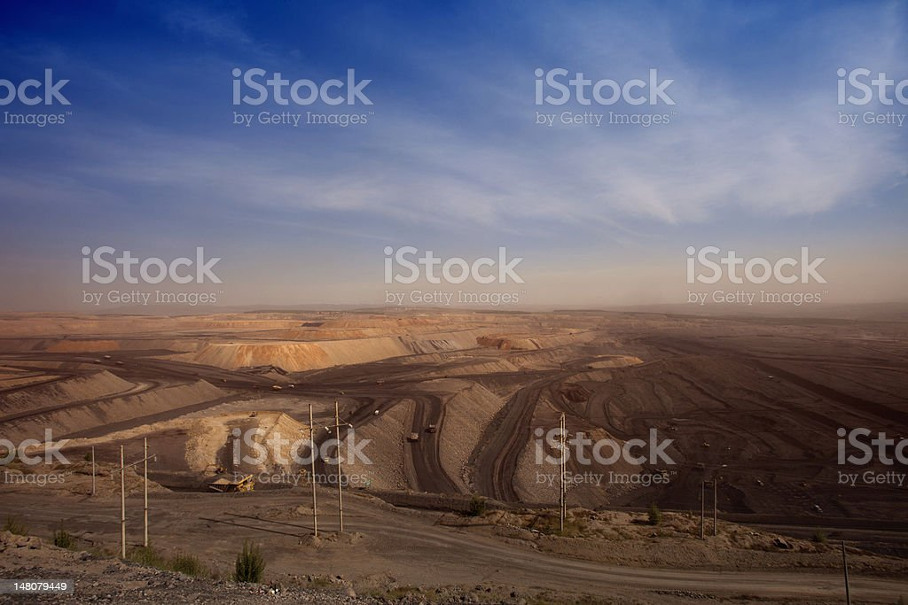 largecoal  mining site at Pingshuo stock photo