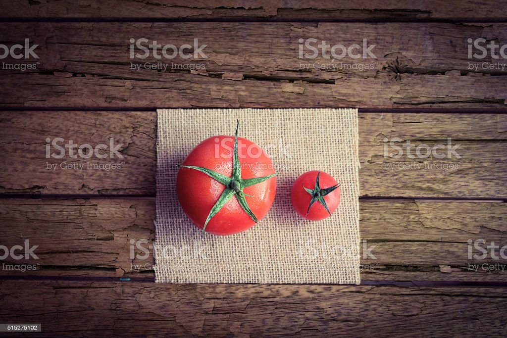 Larger and Smaller Tomatoes stock photo