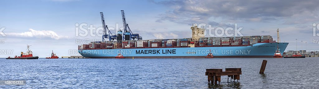 Largest container ship in the world - Gdansk, Poland. royalty-free stock photo
