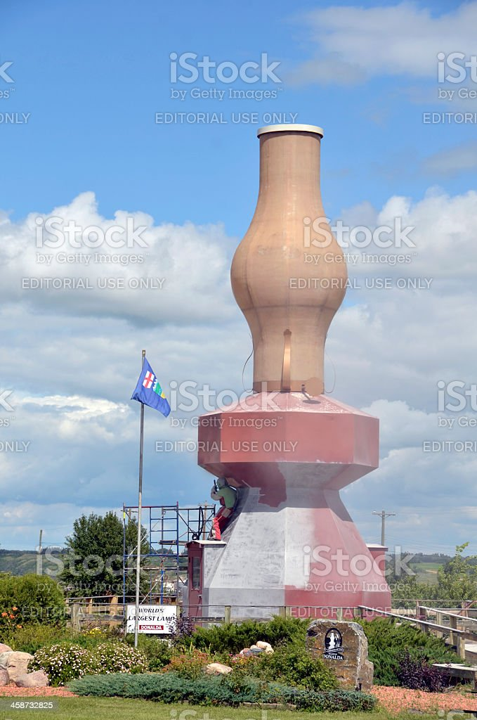 Largest Lamp in the World stock photo