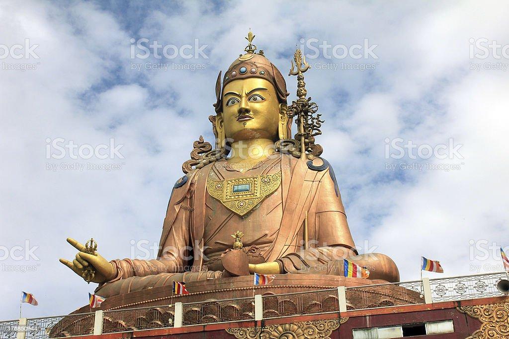 Largest Statue Of Buddhist Guru Padmasambhav royalty-free stock photo