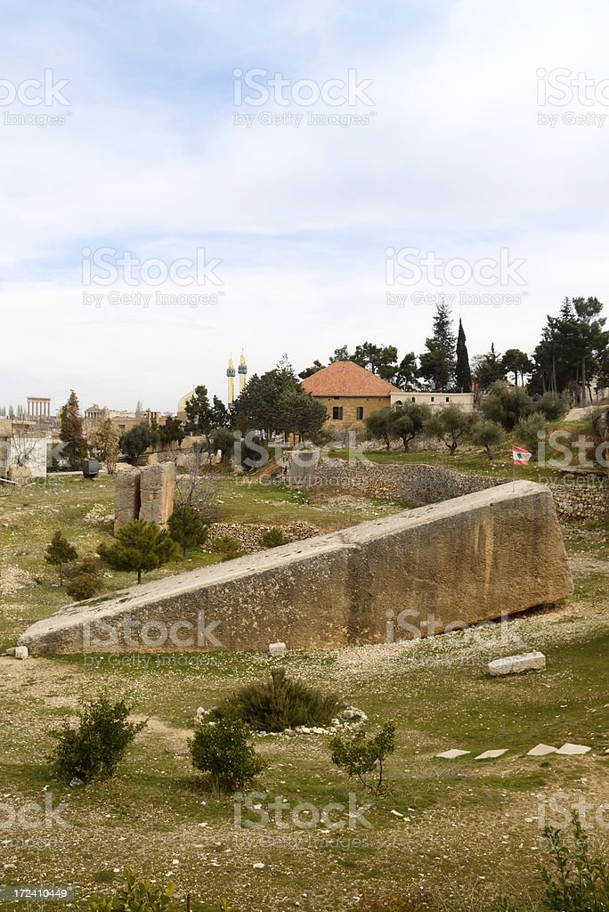 Largest stone in the world stock photo