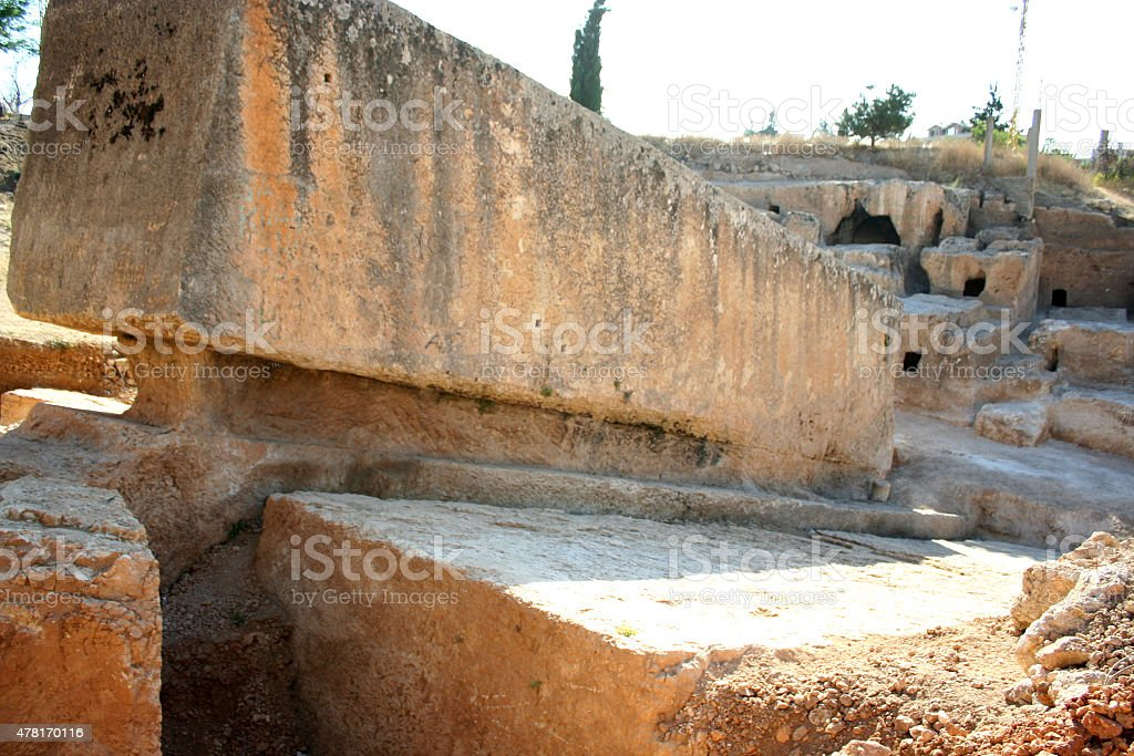 Largest stone in the world,Baalbek, Lebanon, Middle East stock photo