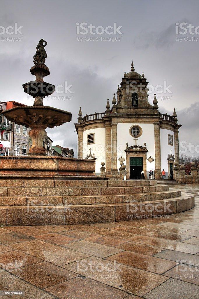 Largo da Porta Nova, Barcelos stock photo