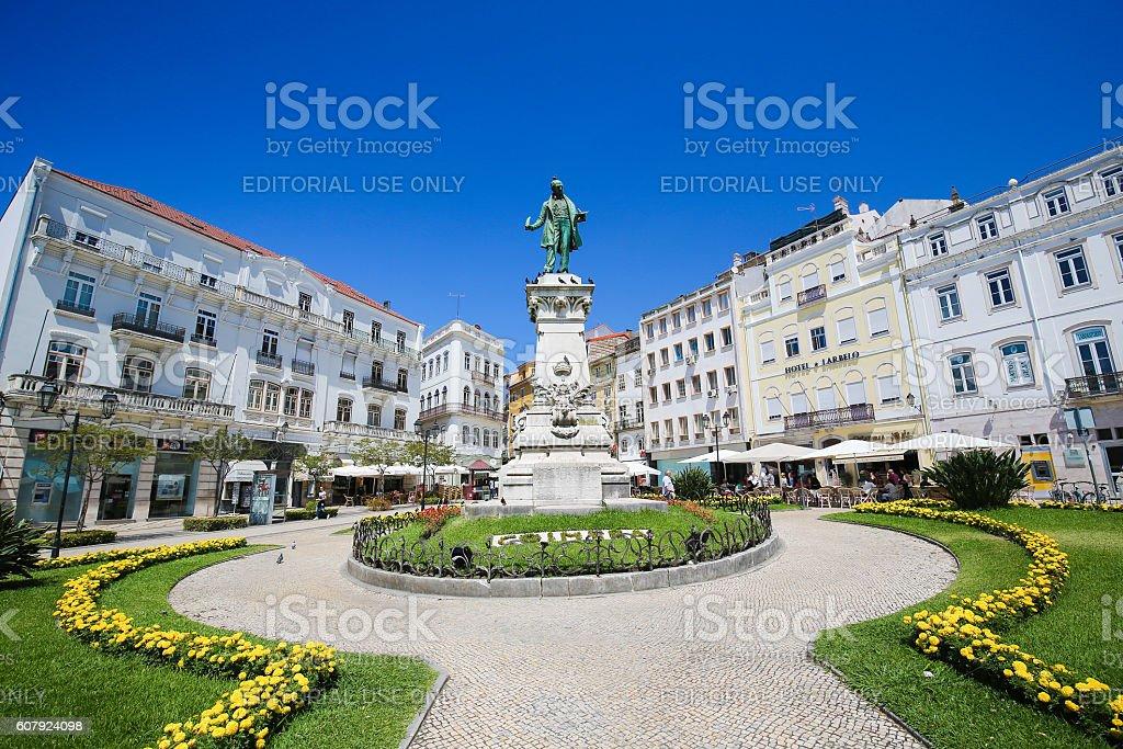 Largo da Portagem in Coimbra, Portugal stock photo