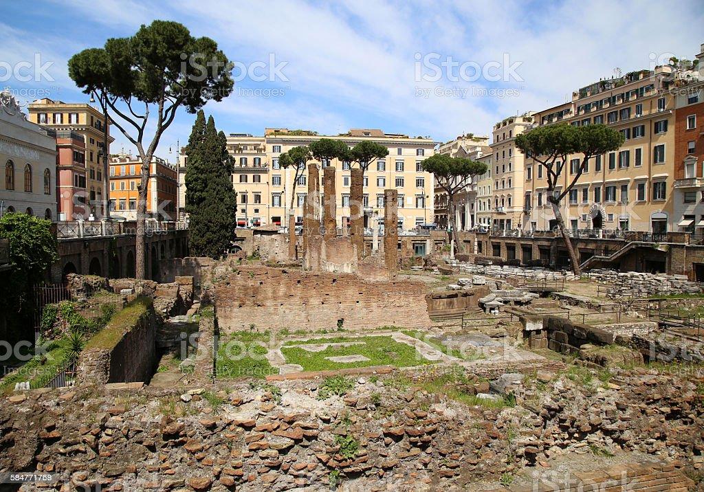 Largo di Torre Argentina in Rome, Italy stock photo