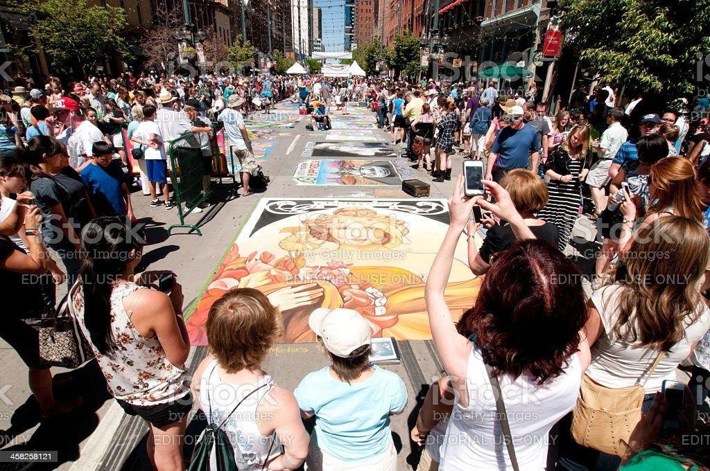 Larimer Square Chalk Festival royalty-free stock photo