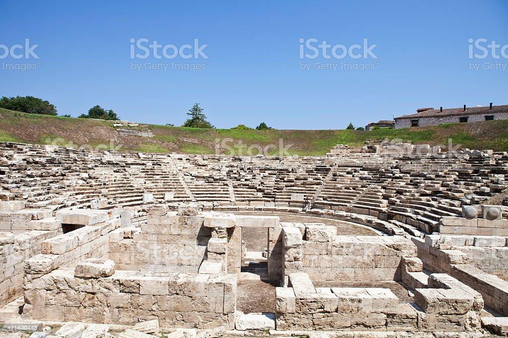 Larisa's  Amphitheatre stock photo