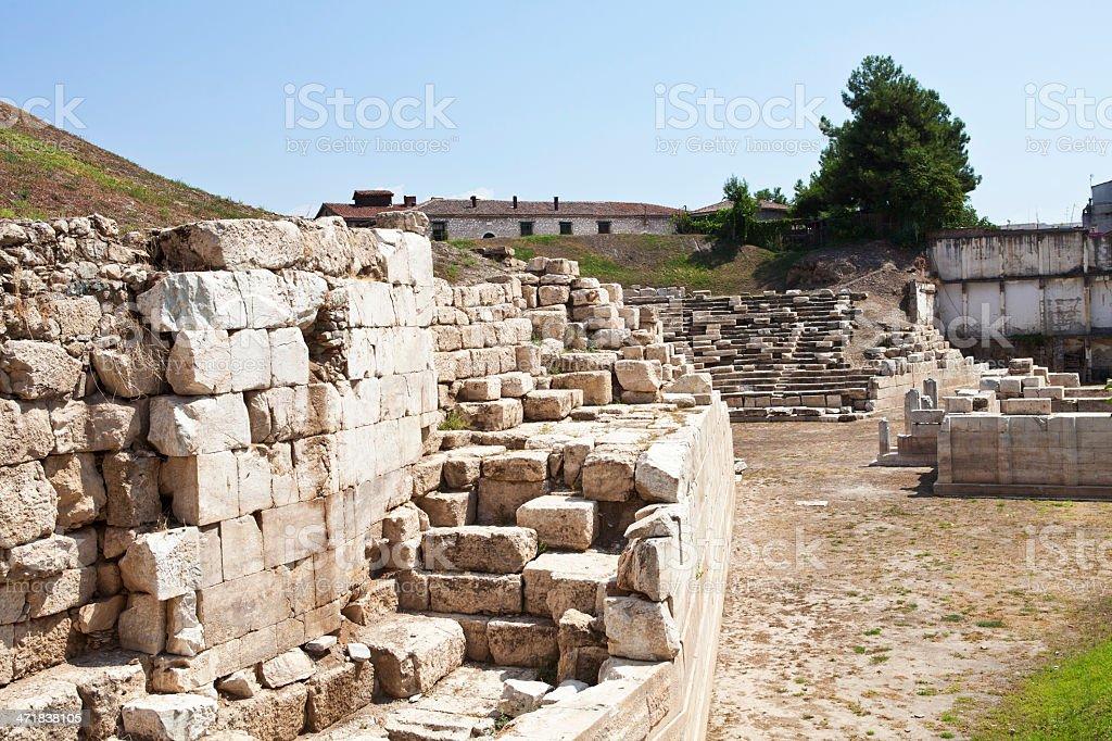 Larisa's  Amphitheatre royalty-free stock photo