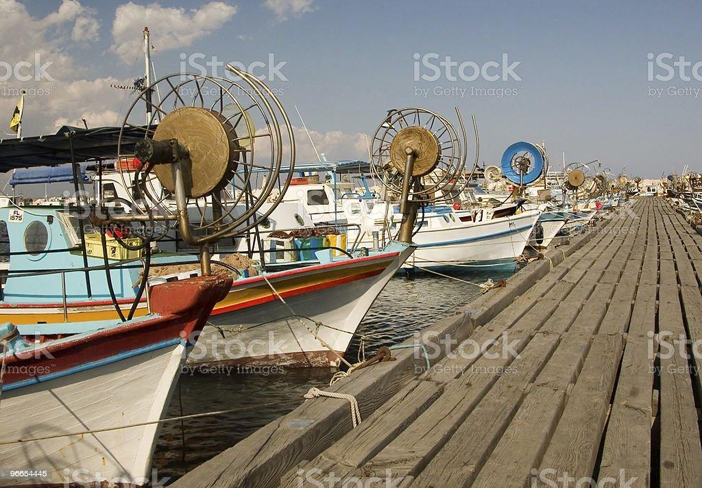 Larnaca, Cyprus fishing marina stock photo