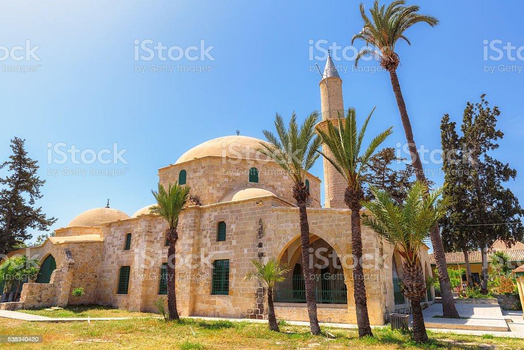 Larnaca Hala Sultan Tekke, Cyprus stock photo