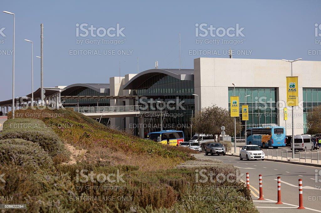 Larnaca International Airport in Cyprus stock photo
