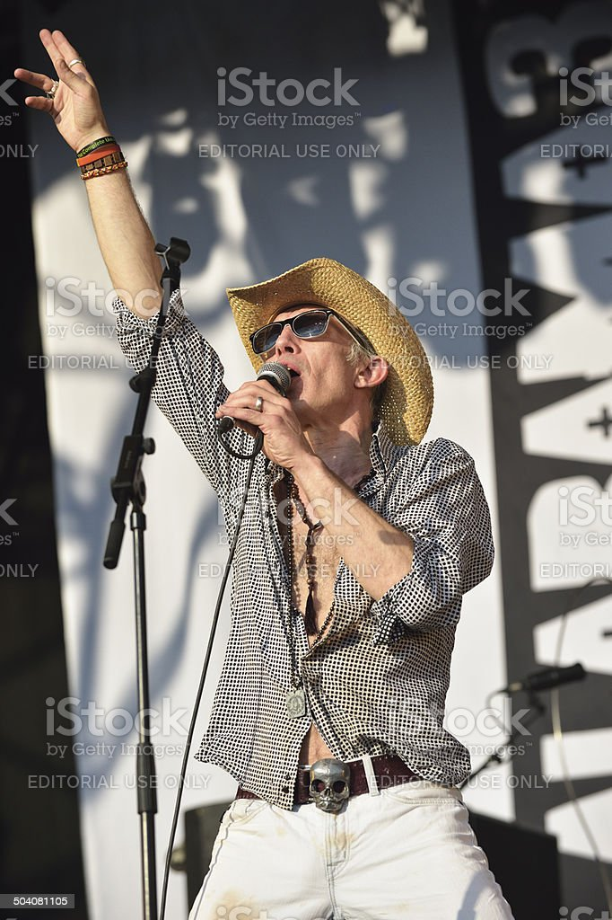 Larry Love, vocalist with English band Alabama 3 stock photo