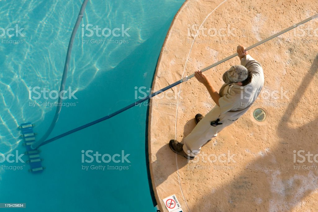 Larry the pool guy royalty-free stock photo