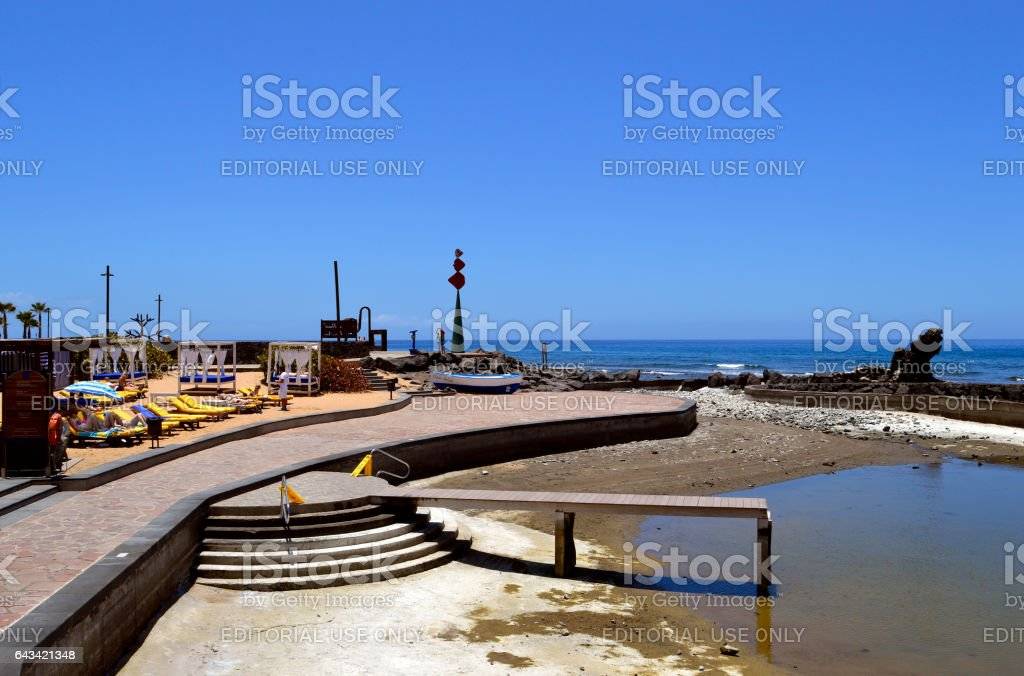 Playa De Las Americas Maui beach lido stock photo
