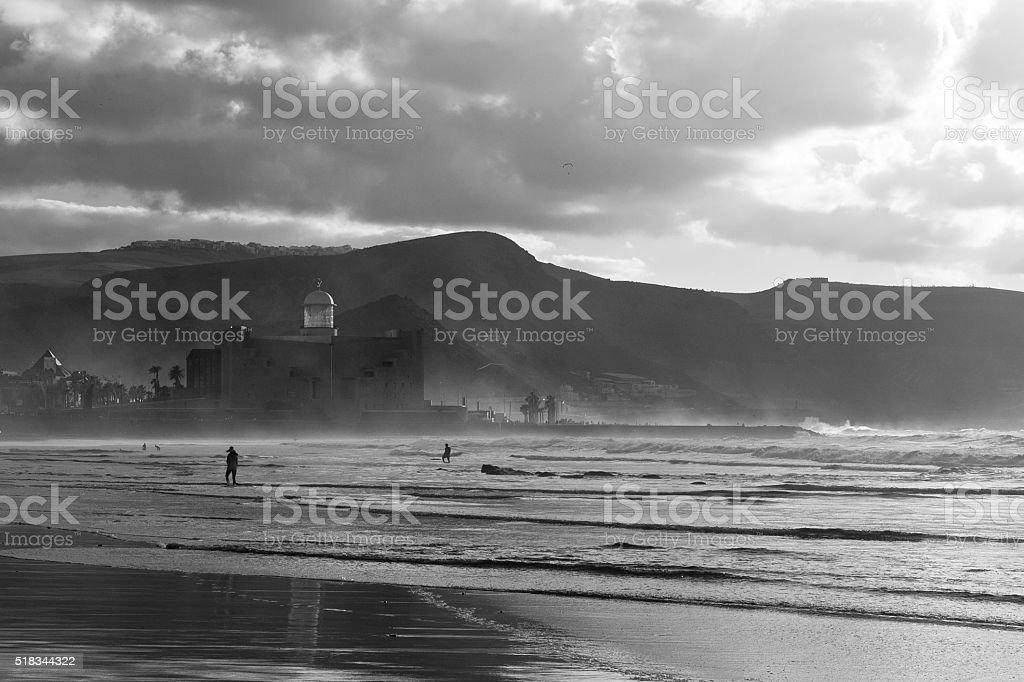 Las Canteras beach stock photo