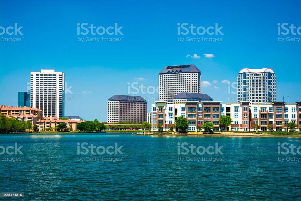 Las Colinas area of Irving, Texas stock photo